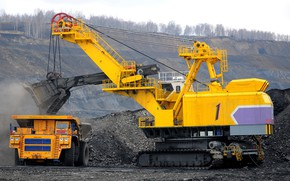 Picture Russia, excavator, quarry, loading, ЭКГ32Р, mining equipment, ECG, the technological process
