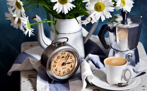 Picture watch, coffee, chamomile