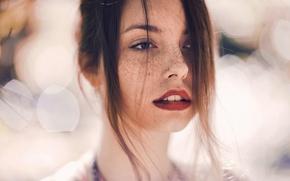 Picture look, girl, portrait, bokeh