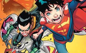 Picture Children, Heroes, Costume, Comic, Heroes, Cloak, Superheroes, Robin, DC Comics, Jonathan Kent, Cape, Robin, Superheroes, …