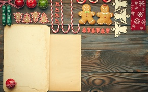 Picture New Year, cookies, Christmas, candy, merry christmas, cookies, decoration, gingerbread, bells