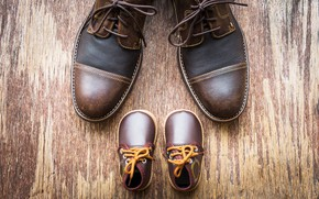 Picture leather, laces, small shoes
