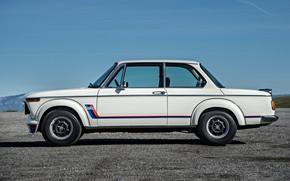 Picture Auto, White, Retro, BMW, Machine, Boomer, BMW, 2002, Old, Side view, German, BMW New class, …