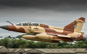 Picture the plane, brown, combat, Dassault Mirage 2000D
