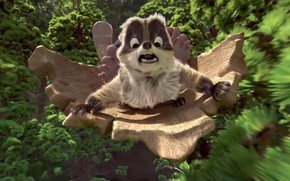 Picture forest, animal, animated film, animated movie, Raccoon, StudioCanal, The Son of Bigfoot