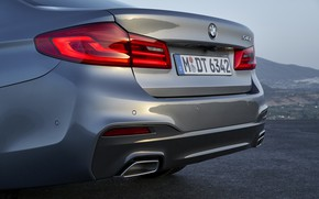 Picture lights, BMW, bumper, the rear part, 540i, trunk lid, 5, M Sport, 2017, 5-series, pipes, …