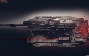 Picture tank, laser, Light tank concept