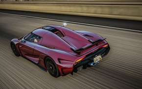 Picture road, speed, supercar, Grand Theft Auto V, Koenigsegg Regera