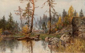 Picture Autumn Mood, Autumn mood, After His Discharge, He Left Russia Items Munsterhielm Almy, a Finnish …