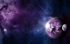 Wallpaper galaxy, stars, space