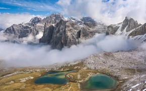 Picture Clouds, Mountains, Panorama