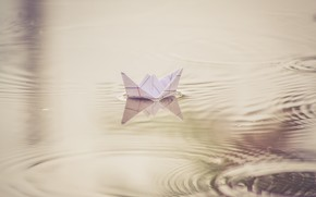Picture water, paper, boat