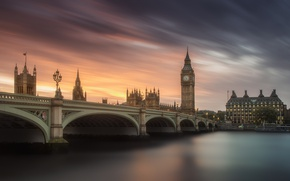 Picture the sky, water, the city, England, London, excerpt, UK