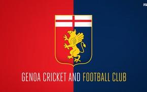 Picture wallpaper, sport, logo, football, Italia, Serie A, Genoa
