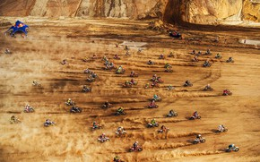 Picture Sand, Dust, Desert, Speed, Moto, Red Bull, A lot, Motorcycles, Racers, Motorcyclists