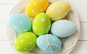 Wallpaper eggs, spring, colorful, Easter, happy, wood, spring, Easter, eggs, holiday