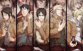 Picture anime, art, Shingeki no Kyojin, the titans, Attack of the titans, The invasion of the …