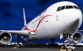 Wallpaper Boeing 767, airliner, Boeing
