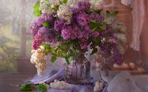 Wallpaper bouquet, spring, still life, lilac