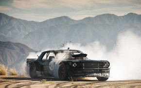 Picture Muscle, Drift, Race, Ford Mustang, 1965, Hoonigan, ASD, Gymkhana seven