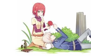 Picture romance, anime, pair, two, Akagami no Shirayukihime