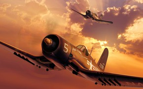 Picture Figure, USA, carrier-based fighter, American, US NAVY, USMC, F4U-4 Corsair, Chance-Vought