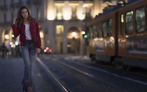 Picture face, the city, model, walk, Clear