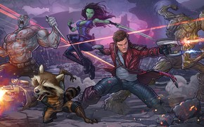 Picture raccoon, art, marvel comics, Patrick Brown, Rocket, PatrickBrown, raccoon, Peter Quill, Star-Lord, Guardians of the …