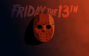 Wallpaper Friday the 13th, poster, art, Jason, shadow, Jason, Friday the 13th, mask, horror