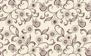 Picture flowers, background, pattern, vector, texture, leaves