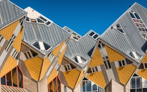 Picture the city, Netherlands, architecture, Holland, Rotterdam, Rotterdam, Cube Houses