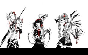 Picture blade, mask, chain, gang, cyberpunk, three, peak, killer, death scythe, red Camellia, a poisonous snake
