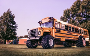 Picture Bus, Bigfoot, school bus, bigfoot, shcool bus