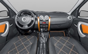 Picture the wheel, salon, radio, Lada Largus, the interior space of the vehicle