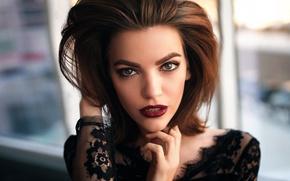 Picture look, portrait, makeup, sponge, Masha