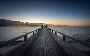 Picture sea, bridge, the evening