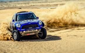 Picture Sand, Auto, Mini, Blue, Dust, Sport, Machine, Speed, Turn, Race, Skid, Car, Rally, SUV, Rally, …