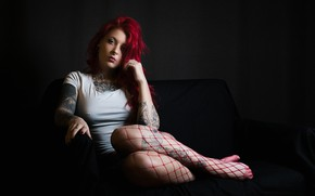 Picture chest, tattoo, legs, Riina R