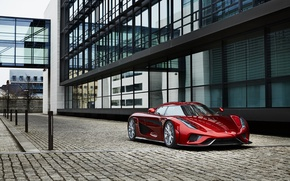 Picture city, Koenigsegg, supercar, red, hypercar, Regera