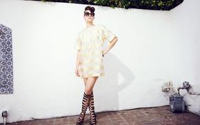 Picture pose, model, makeup, figure, dress, actress, brunette, glasses, hairstyle, outfit, photoshoot, Lauren Cohan, Lauren Cohan, …