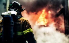 Picture Fire, Man, Fireman