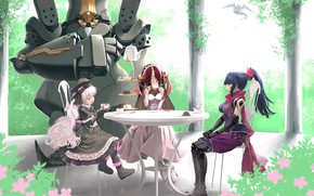 Picture girls, robot, anime, the tea party, Fate / Grand Order