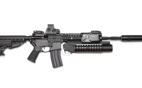 Picture AR-15, AR 15, 15 with grenade launcher, weapon of war