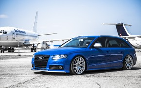 Picture car, tuning, airplanes, stance, audi a4, before