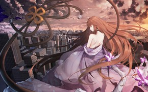 Picture girl, back, anime, forever 7th capital