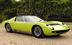 Picture Color, Auto, Lamborghini, Retro, Green, Machine, Eyelashes, Lights, Car, Supercar, 1970, Miura, Supercar, Lamborghini Miura, …