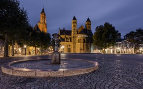 Picture area, fountain, Netherlands, Maastricht