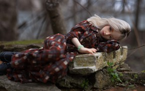 Picture sadness, girl, mood, doll