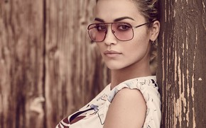 Wallpaper glasses, Rita Ora, singer, portrait, look