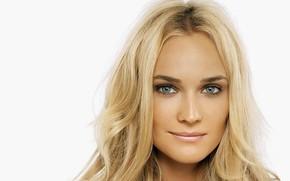 Picture look, girl, face, smile, portrait, actress, blonde, Diane Kruger, Diane Kruger, hair